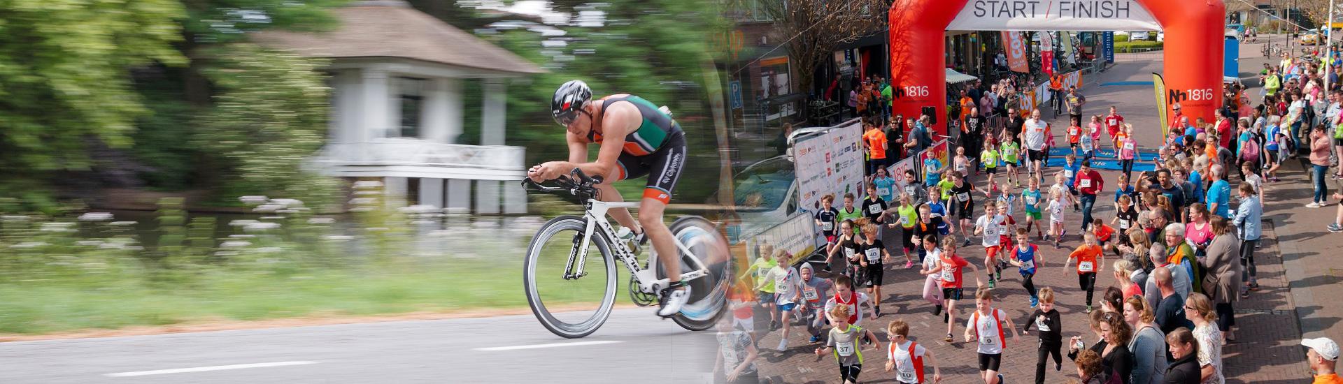 Headerfoto's: Triathlon Woerden en Rondje Zegveld